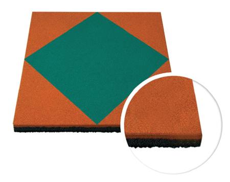 Травмобезопасная резиновая плитка «Мозаика» 40 мм