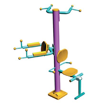Уличный тренажер для ног, подтягивания и упражнений на брусьях ST-1