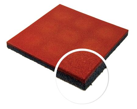Травмобезопасная резиновая плитка 16 мм