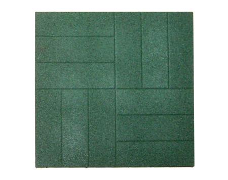 Резиновая тротуарная плитка «Брусчатка» 16 мм