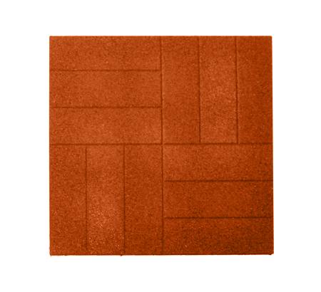 Резиновая тротуарная плитка «Брусчатка» 20 мм