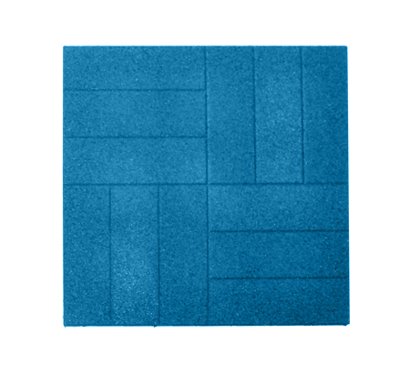 Резиновая тротуарная плитка «Брусчатка» 30 мм