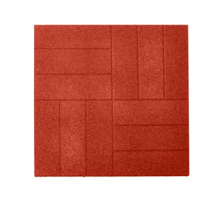 Резиновая тротуарная плитка «Брусчатка» 40 мм