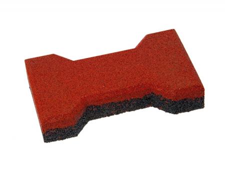 Травмобезопасная резиновая брусчатка «Катушка» 20 мм