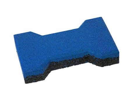 Травмобезопасная резиновая брусчатка «Катушка» 40 мм