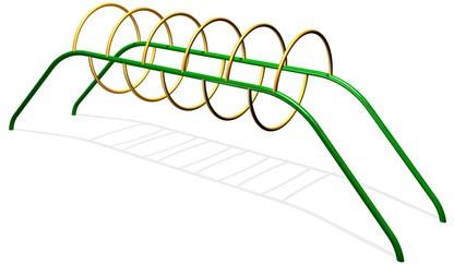 Элемент для лазанья круглый тоннель