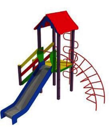 Детский игровой комплекс (площадка) ДК04