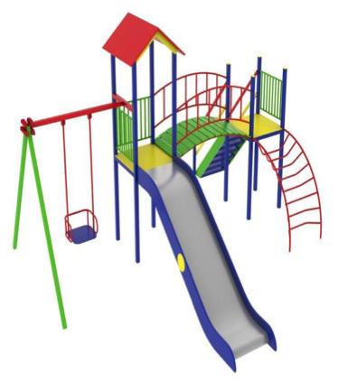 Детский игровой комплекс (площадка) ДК06