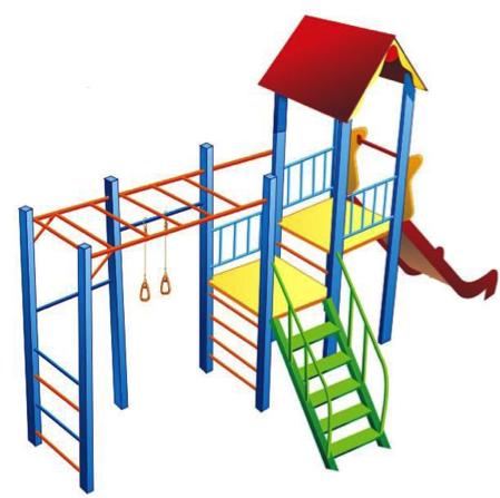 Детский игровой комплекс (площадка) ДК07
