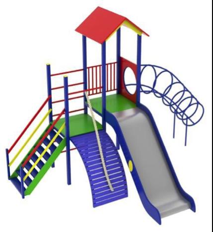 Детский игровой комплекс (площадка) ДК14