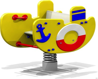 Качалка на пружине «Кораблик» КП04