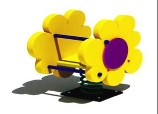 Качалка на пружине «Цветочек» КП14