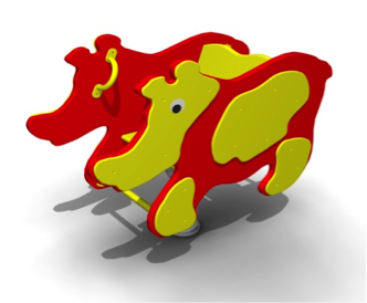 Качалка на пружине «Носорог» КП15