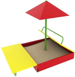 Песочница с крышей и зонтом ПС04