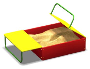 Песочница с крышей ПС02