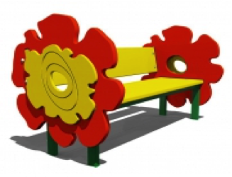 Скамейка детская «Цветы» СМ26