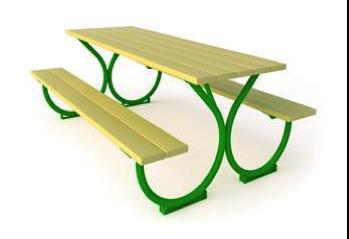 Столик со скамьями СТ16