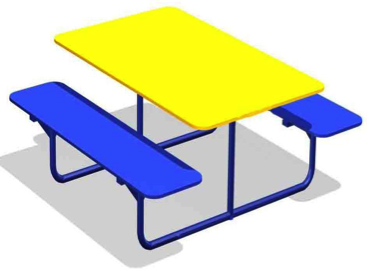 Столик со скамьями СТ17
