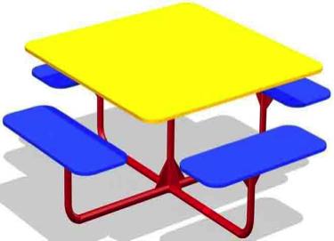 Столик со скамьями СТ19
