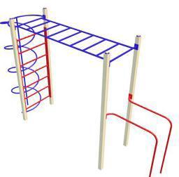 Детский спортивный комплекс: Рукоход +Брусья+Спираль СК22