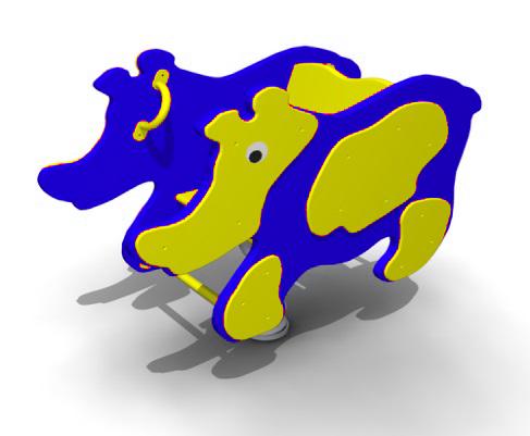 Качалка на пружинке «Носорог» КП15