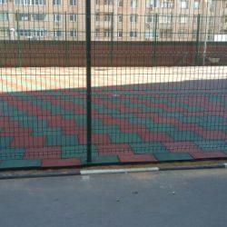 Укладка резиновой плитки: Москва, ул. Верхняя Красносельская, 19, стр2