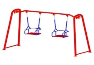 Качели двойные с подвесом на цепях К2
