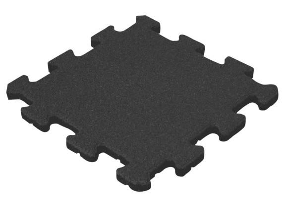 Травмобезопасная резиновая плитка Пазл 16 мм