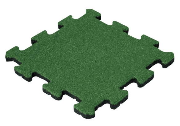 Травмобезопасная резиновая плитка Пазл 30 мм