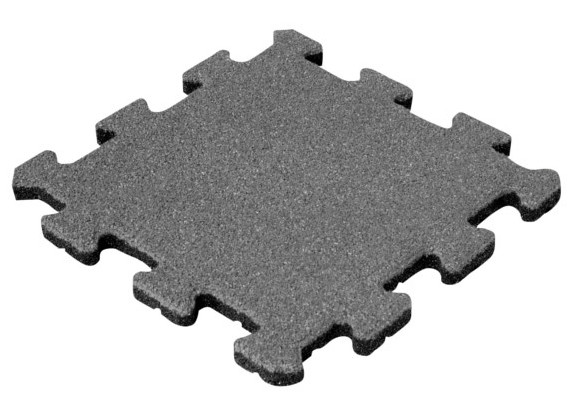 Травмобезопасная резиновая плитка Пазл 40 мм