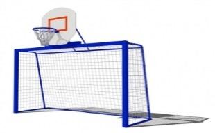 Спортивный комплекс ворота для гандбола с баскетбольным щитом СК22