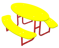 Столик со скамейками СТ.1